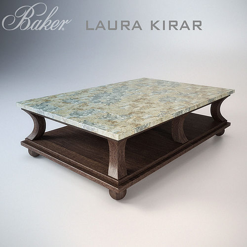 Baker Nixon Coffee Table: 3D Model Muso Cocktail Table