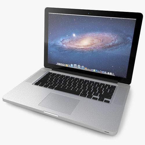 apple macbook pro 3d model obj 3ds fbx c4d pdf 1