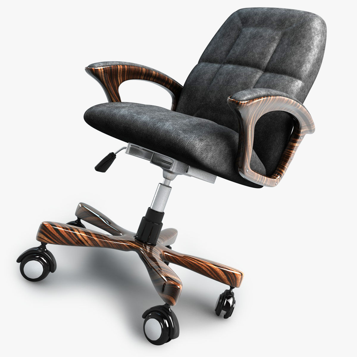 3d model office chair on wheels cgtrader