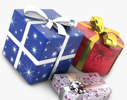 3d wrapped gifts