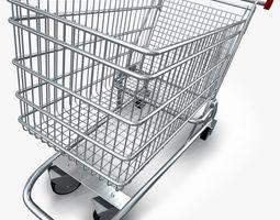 realistic shopping cart 3d model obj 3ds fbx c4d