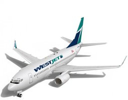 WestJet Boeing 737-700w 3D Model