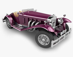 3D Mercedes SSK with Engine