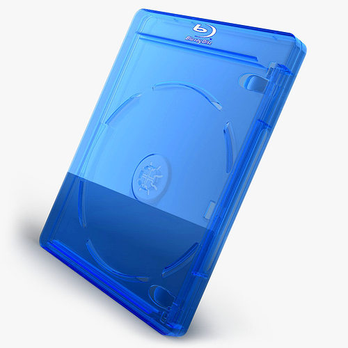 bluray case 3d model obj mtl 3ds fbx c4d 1