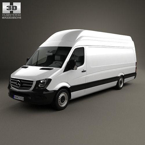 mercedes-benz sprinter panel van elwb shr 2013 3d model max obj mtl 3ds fbx c4d lwo lw lws 1