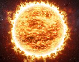 Animated sun v01 3D model