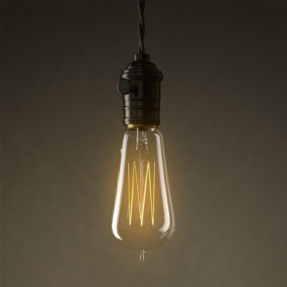 ... Vintage Edisson Light Bulbs Collection 3d Model Max Obj Mtl 8 ...