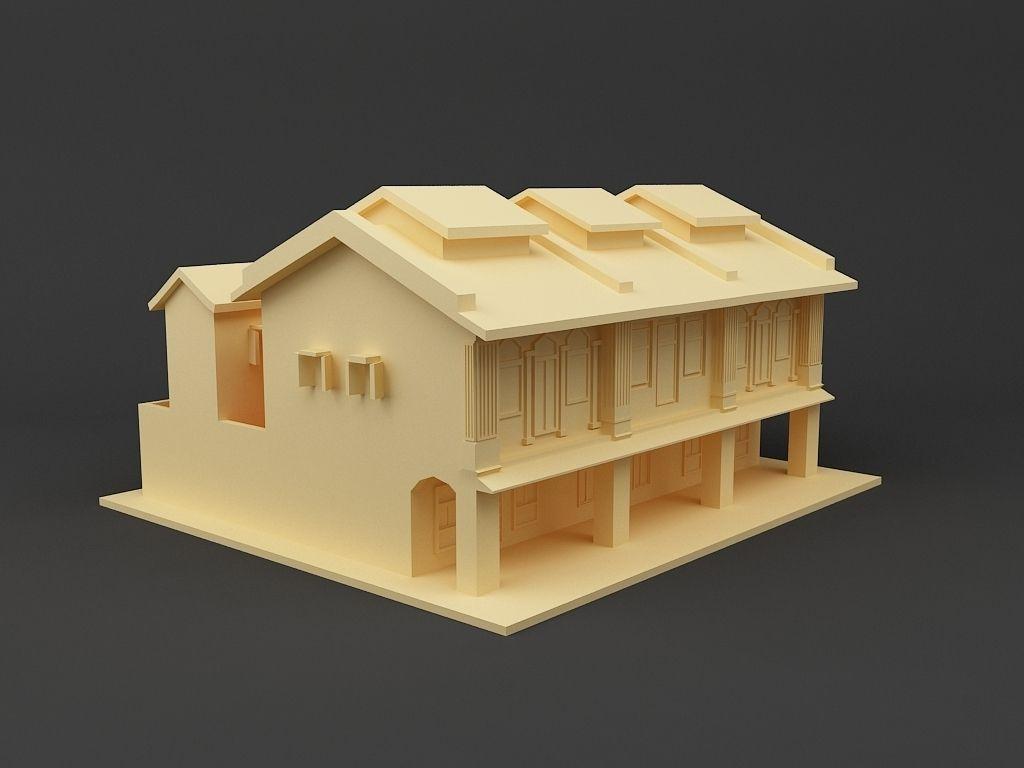 Shop house singapore 3d model 3d printable stl for 3d printed house model