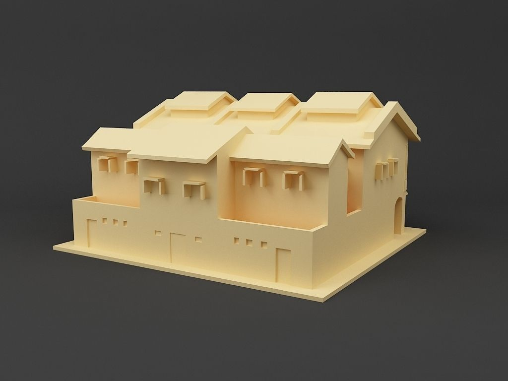 Shop house singapore 3d model 3d printable stl for 3d printed model house