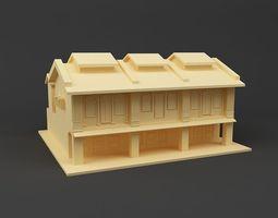 3D printable model Shop house Singapore