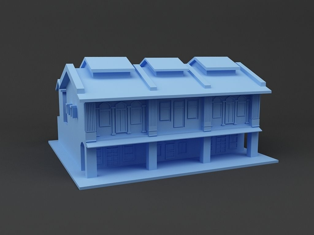 Shop house singapore 3d model 3d printable stl - Buy 3d printed house ...