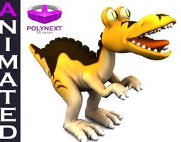 cartoon tyrannosaurus animated 3d asset