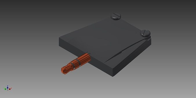 3d printable model trs audio jack spare cgtrader - Spare time gadgets ...
