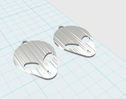 grey aliens face earrings  3d printable model