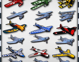 air plane pack 9 models with lods realtime