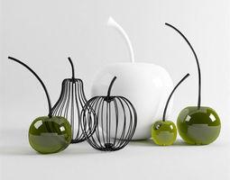 daily necessities design - modern decorations 03  3d