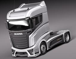 Scania R1000 2014 Vehicle 3D Model