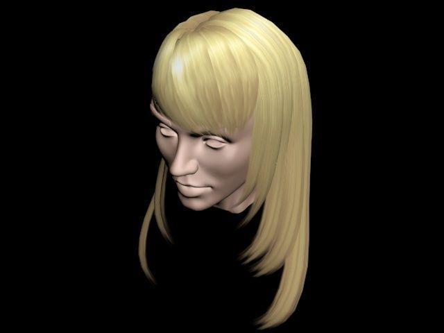 Haircut No 2 Blond Hair For Woman 3d Model Cgtrader