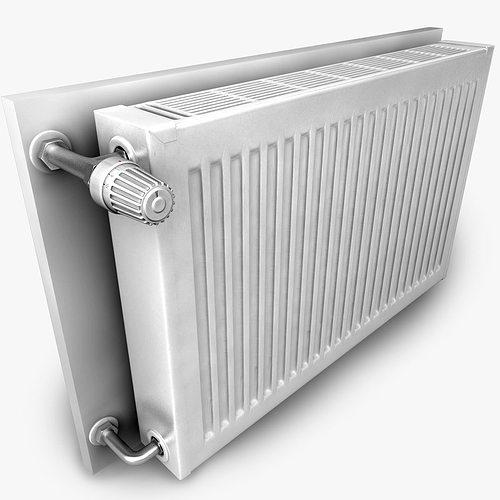 heating radiator 3d model obj 3ds fbx c4d 1