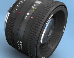 lens rigged 3d model obj 3ds fbx c4d