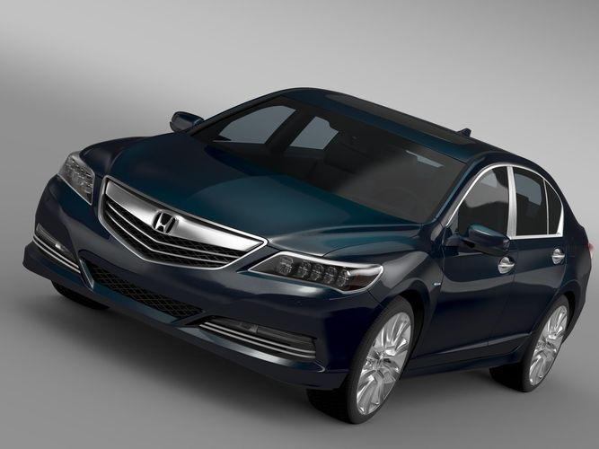 Honda Legend Hybrid 2017 3d Model Cgtrader