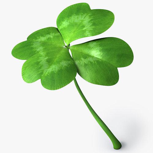 four leaf clover 3d model obj mtl 3ds fbx c4d 1