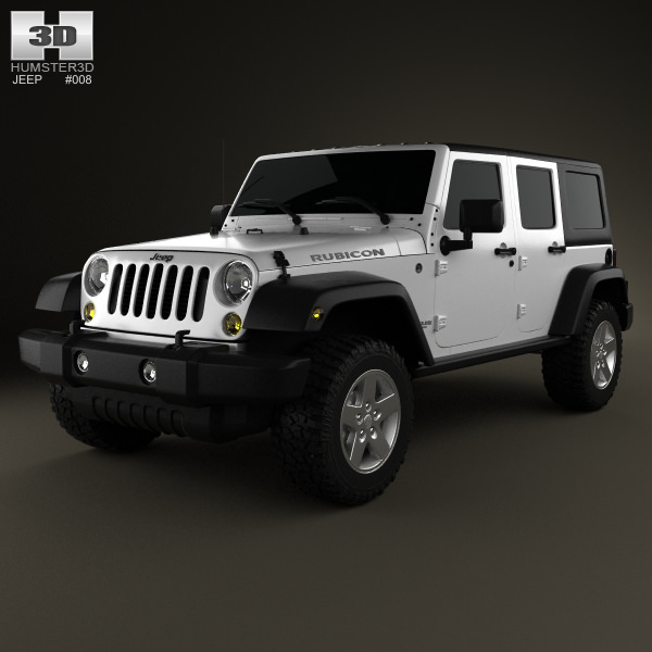 3d Jeep Wrangler Unlimited 2013 Cgtrader