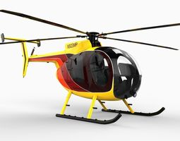 MD 500 Helicopter 3D Model