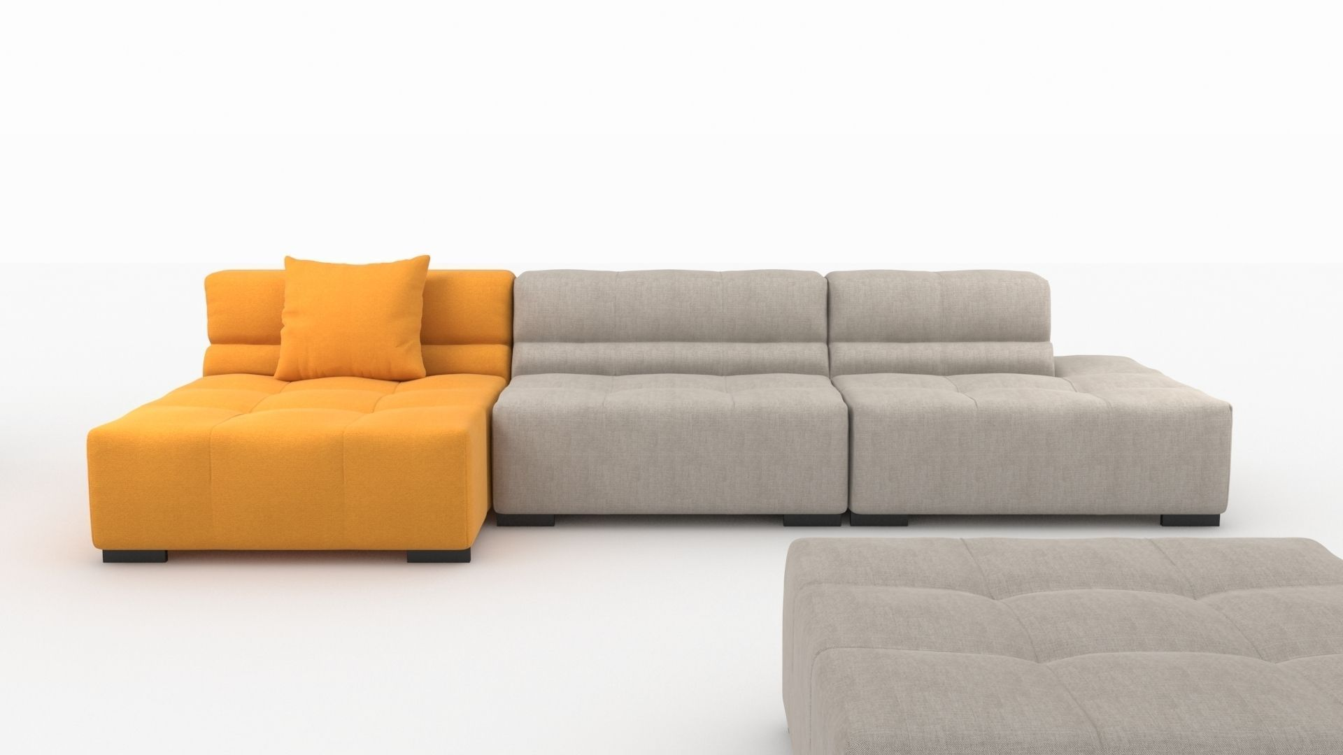 Tufty time sofa by bb italia 3d model max obj 3ds fbx mtl for Sofa bb italia