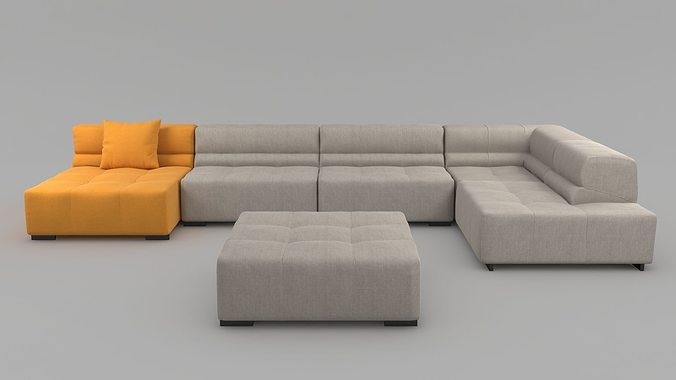 Marvelous ... Tufty Time Sofa By Bb Italia 3d Model Max Obj 3ds Fbx Mtl 5 ... Great Pictures