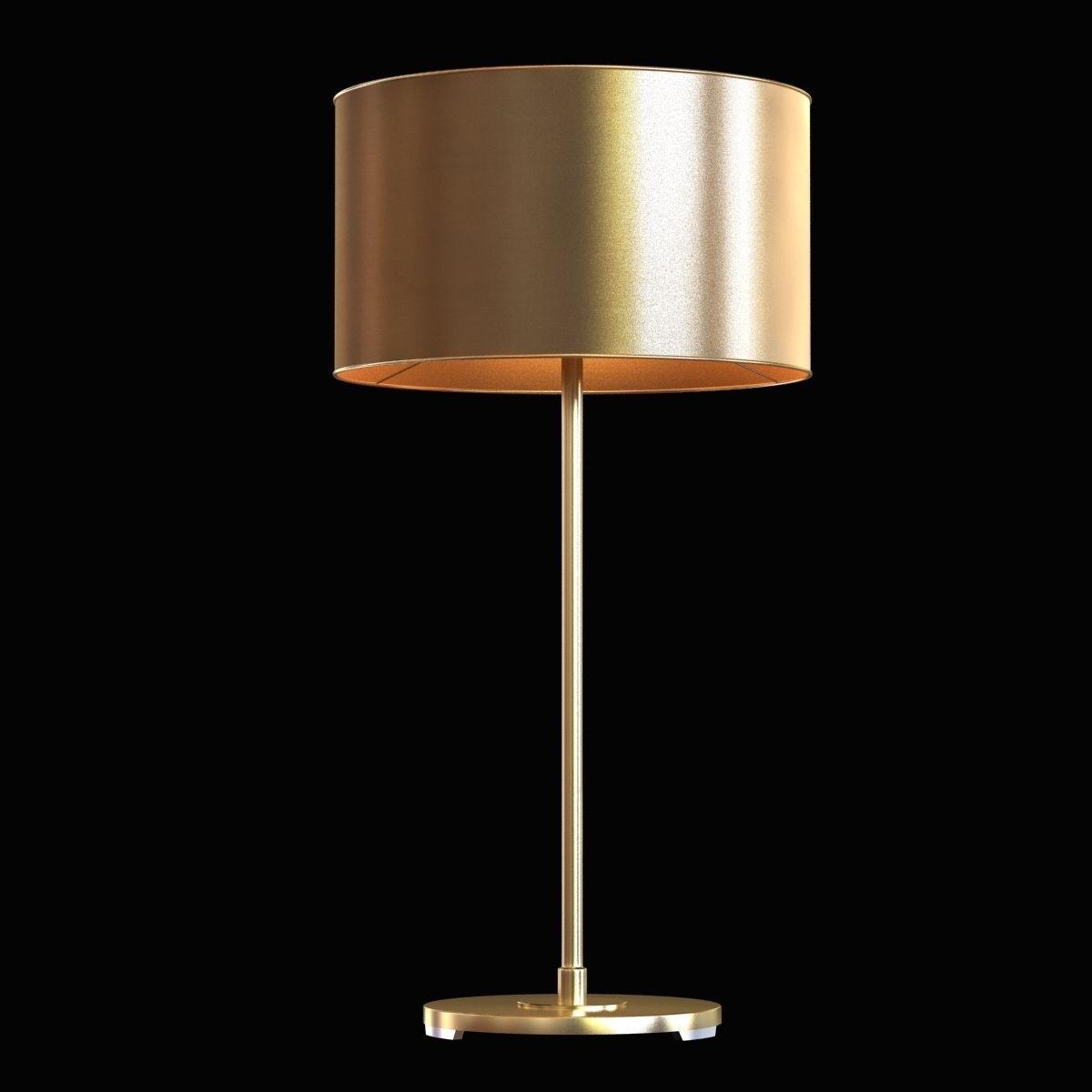 Restoration Hardware Antiqued Metal Drum Table Lamp 3d Model Max Obj