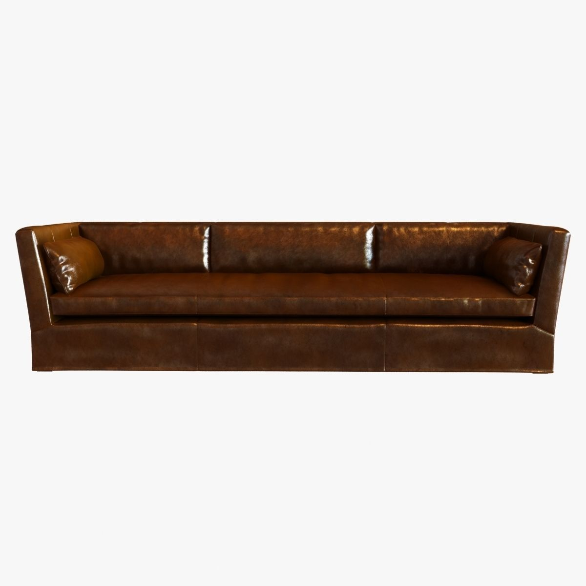 ... Restoration Hardware Belgian Shelter Arm Leather Sofa 3d Model Max Obj  3ds Fbx Mtl 2 ...