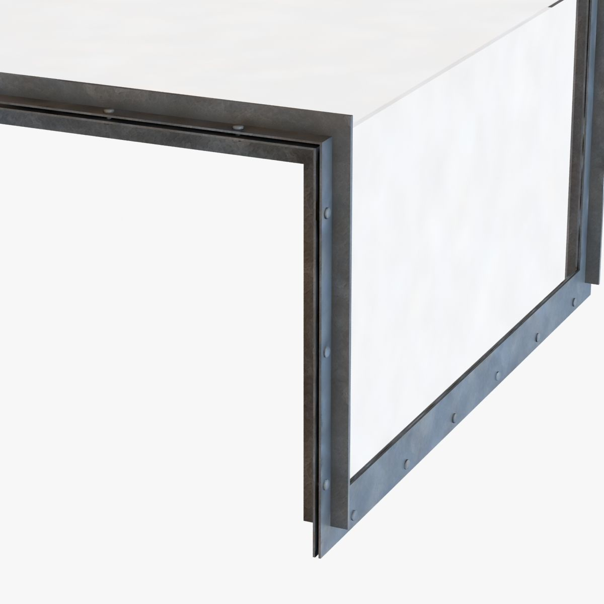 restoration hardware waterfall glass iron coffee table 3d model