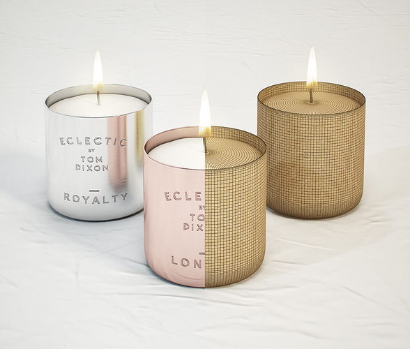Tom Dixon Eclectic Scented Candles 3d Model Max Obj Fbx Mtl 1 ...