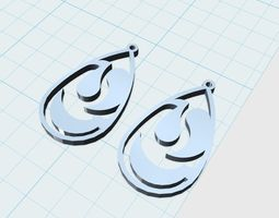 drop earrings 3d print model