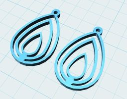 concentric drop earrings model 2