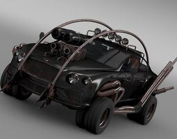 Mad Max Grizzly Bentley Continental GT 2015 3D Model