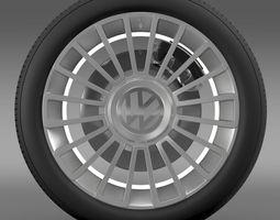 volkswagen up wheel 3d model