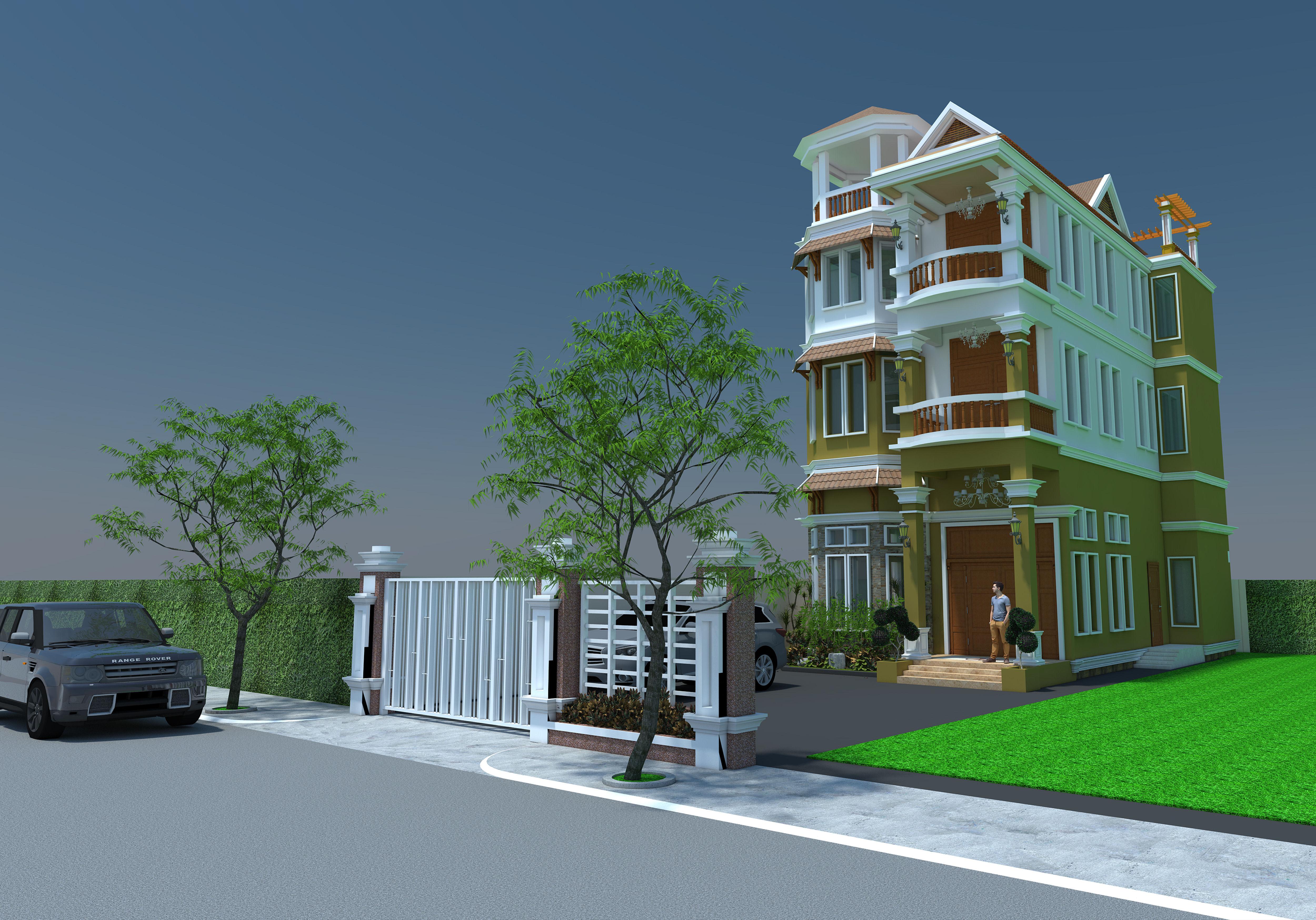 Residential Building 3d Model Dwg Skp 2