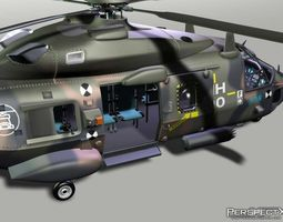 NH90 Transport Helicopter 3D Model
