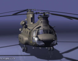 CH47 Chinook Helicopter PreRigged for Craft Director Tools 3D Model