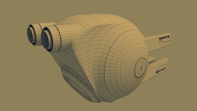 oblivion drone 3d model obj 3ds fbx blend dae mtl 1