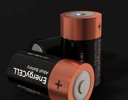 Battery D 3D model