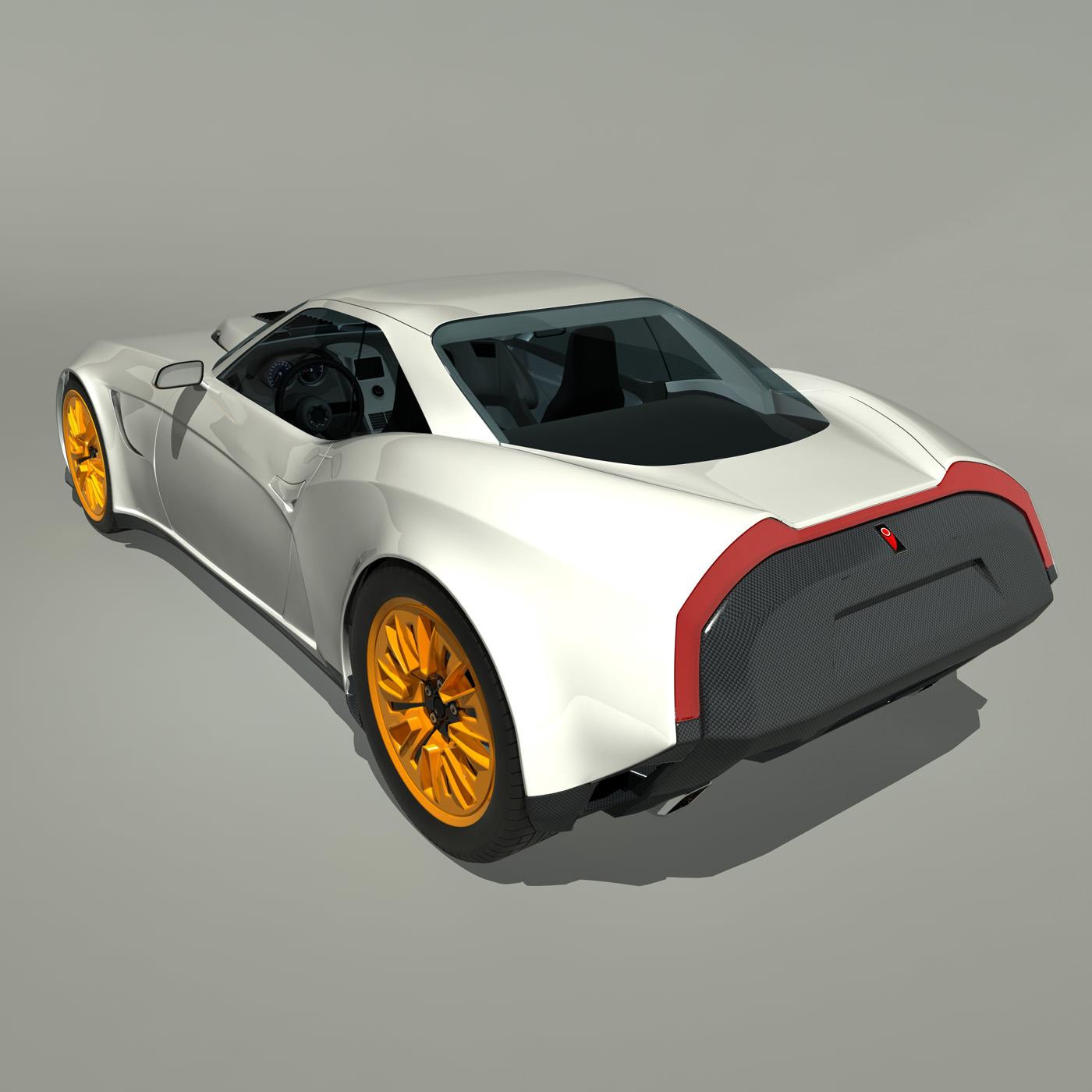 2013 Kukhri GT Concept Sports Car 3D Model MAX OBJ FBX