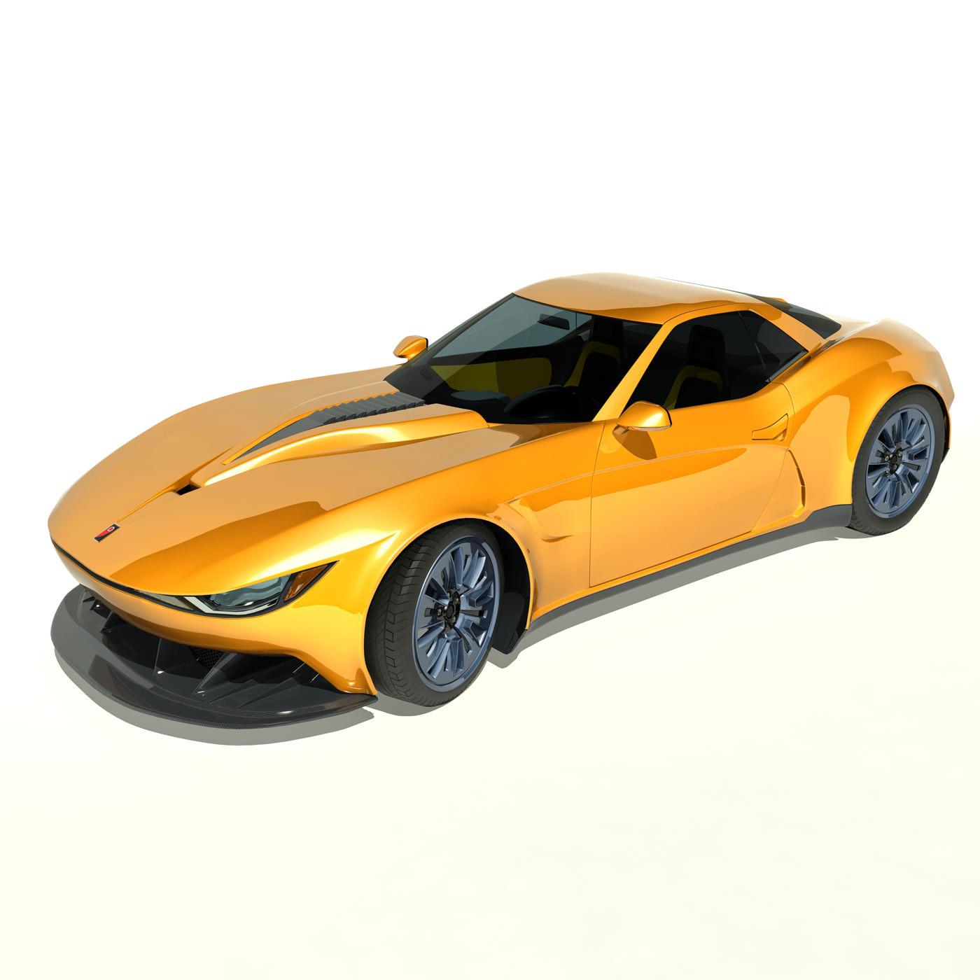 Sedan Sport Cars: 3D Model 2013 Kukhri GT Concept Sports Car