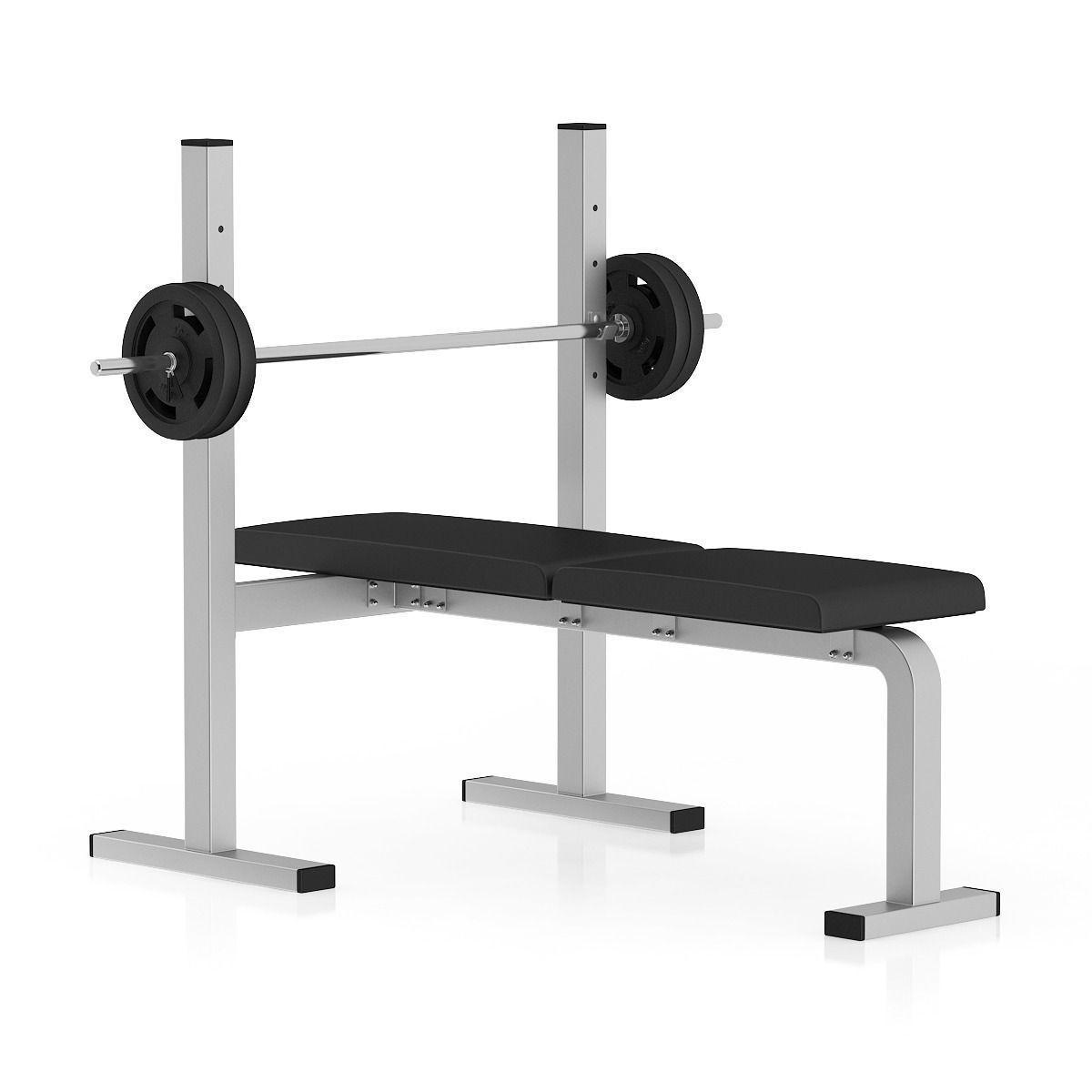 Flat Weight Bench 3d Model Max Obj Fbx C4d Mtl
