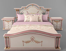 3D model The bed and a bollard made in Spain