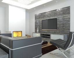 interior architectural 3D Living room