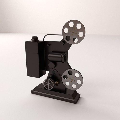 film projector 3d model 3ds fbx blend dae 1