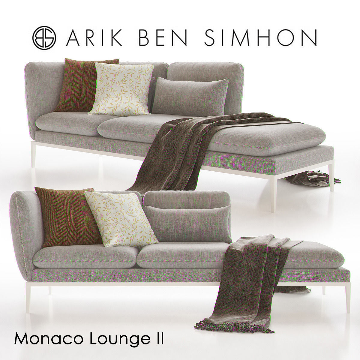 Monaco Chaise Lounge Ii By Arik Ben Simhon 3d Model Max 1 ...